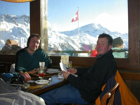 Skiing in St. Moritz with Johannes 2004