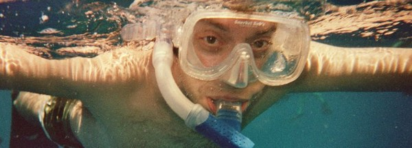 Martin snorkeling in Hawaii - 2004